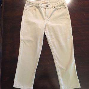 Michael Kors Cropped Skinny Tan Jeans